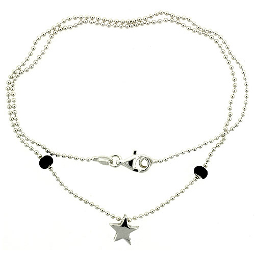 Sterling Silver Necklace / Bracelet with a Star Slide