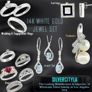 14K WHITE GOLD - DIAMOND JEWELRIES