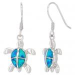 Turtle Synthetic opal Earring