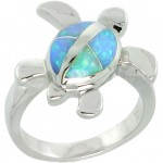 Baby turtle opal ring