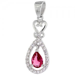 Ruby Pear shaped  Pendant