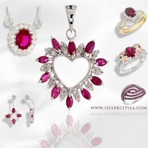 DAZZLING PENDANTS WITH RUBY, THE JULY BIRTHSTONE