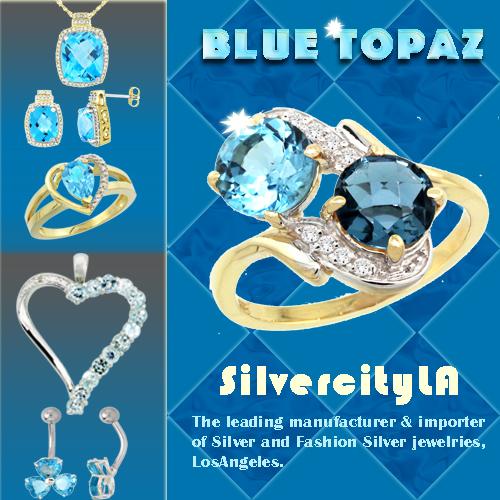 Silvercityla, Blue Topaz Rings