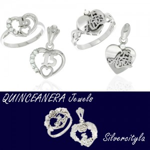 Sterling silver Quinceanera Jewels