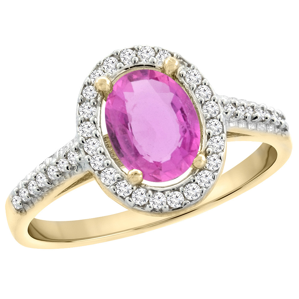 14K Yellow Gold Diamond Jewelry-Color Gemstone Rings