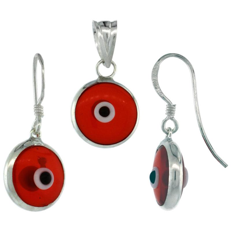 Evil Eye Earrings & Pendant
