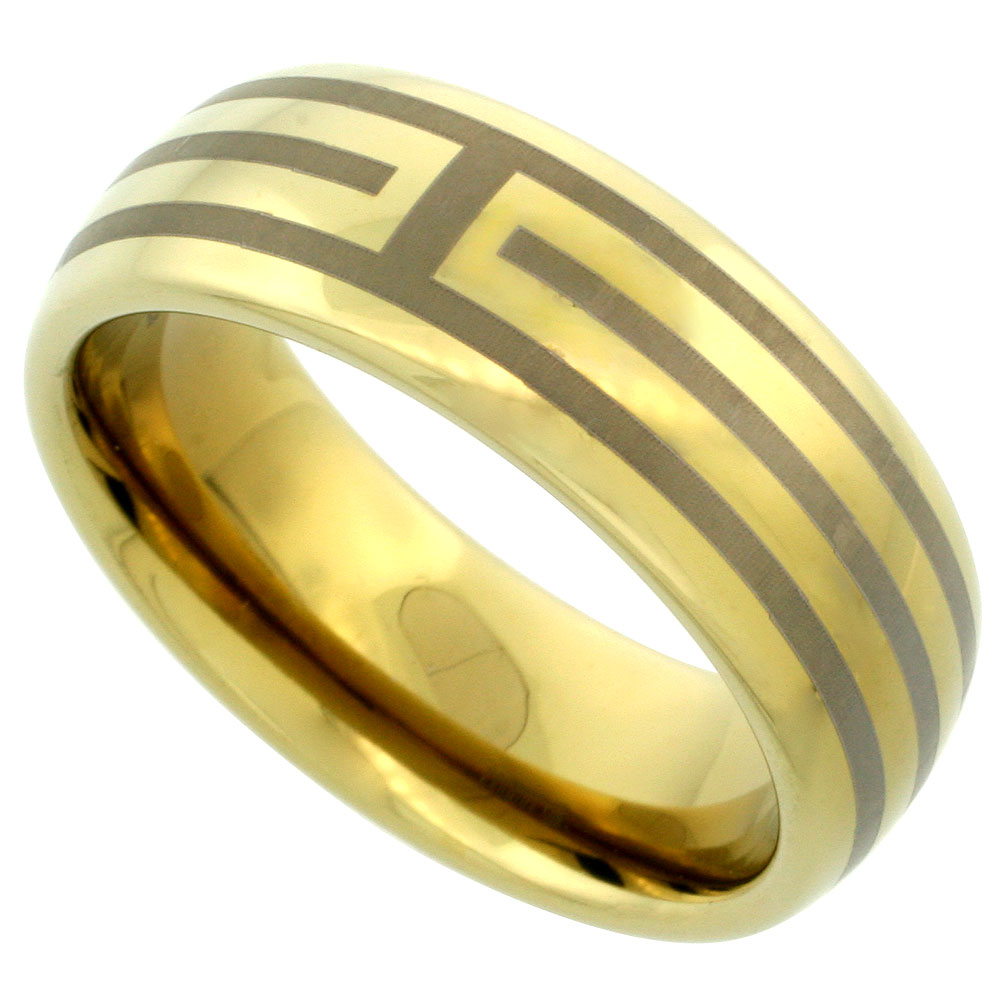 Gold Tone Wedding Bands