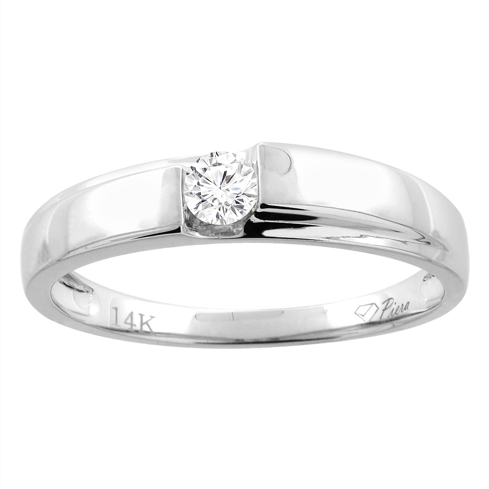 14K White Gold Ladies' Diamond Wedding Band 3.5 mm 0.11 cttw, sizes 5 - 10