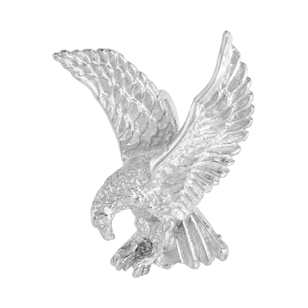 Sterling Silver Eagle Pendant, 1 1/16 inch tall