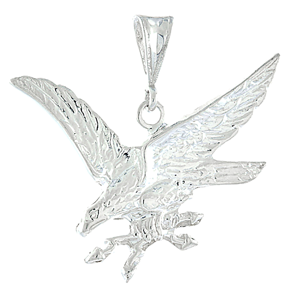 Sterling Silver Eagle Pendant, 1 inch