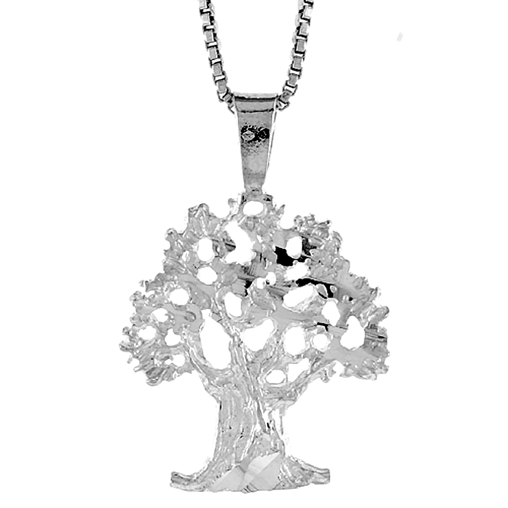 Sterling Silver Tree of Life Pendant, 3/4 inch Tall