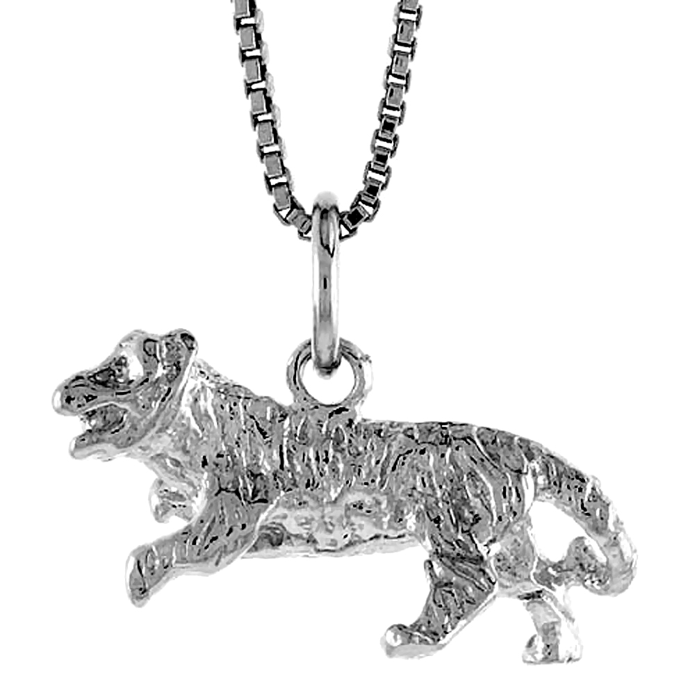 Sterling Silver Year of the SHEEP Pendant Chinese Zodiac, 5/16 inch Tall