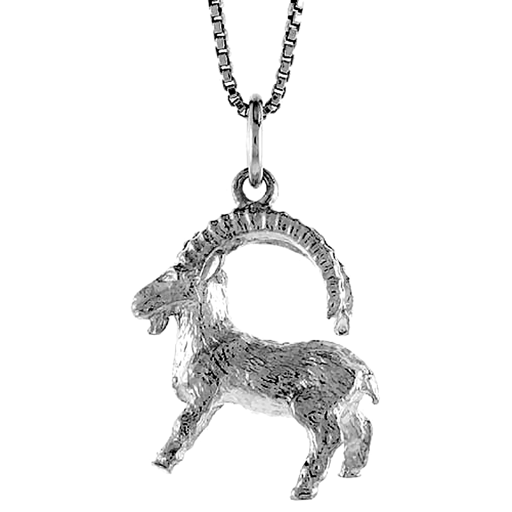 Sterling Silver Zodiac Charm for CAPRICORN 3/4 inch Tall