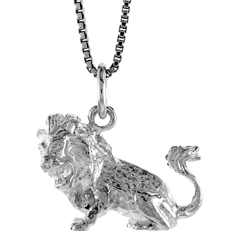 Sterling Silver Zodiac Charm for LEO 1/2 inch Tall