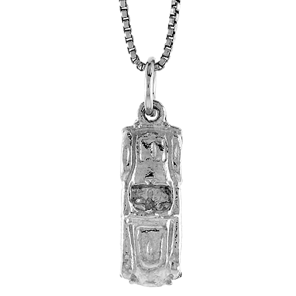 Sterling Silver Car Pendant, 3/4 inch Tall