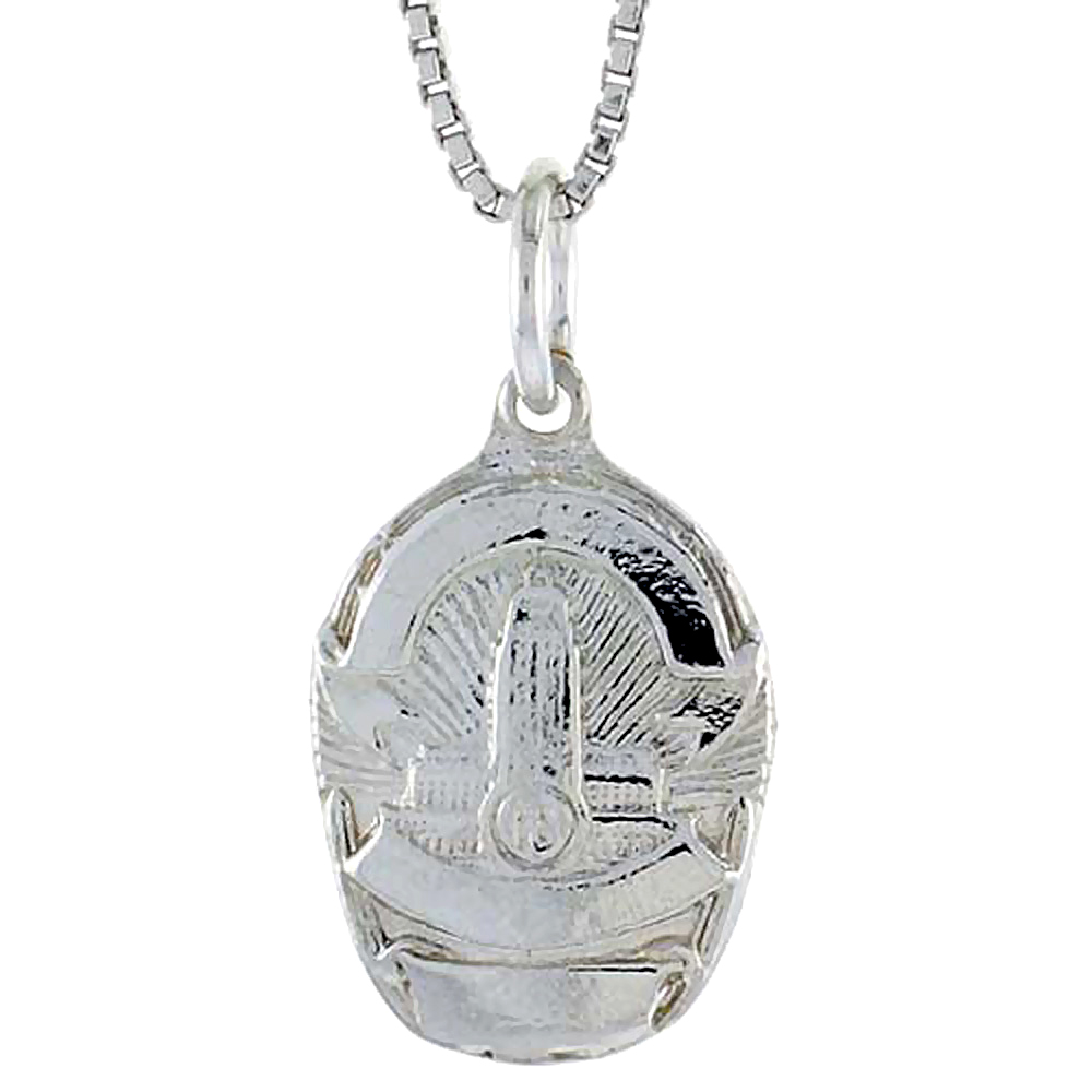 Sterling Silver Los Angeles Police Badge Pendant, 5/8 inch Tall