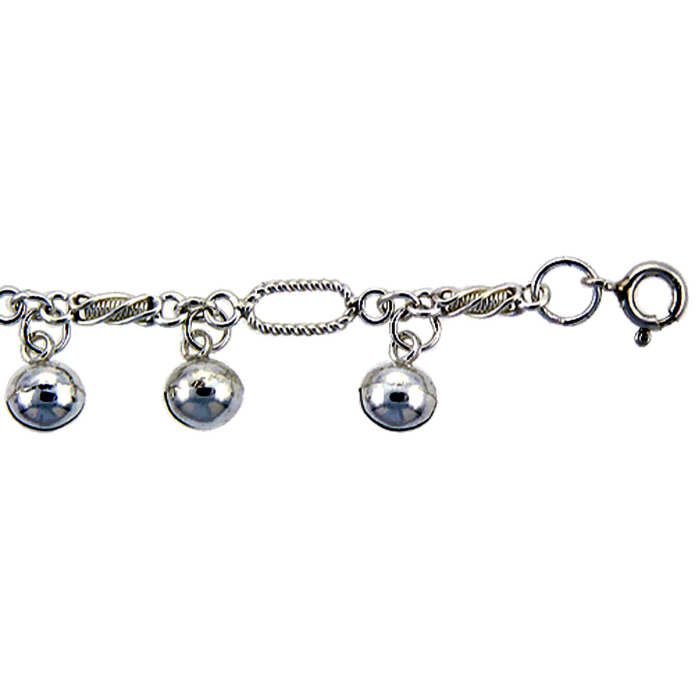 bracelet sterling ankle inch olizz with star silver anklet charms