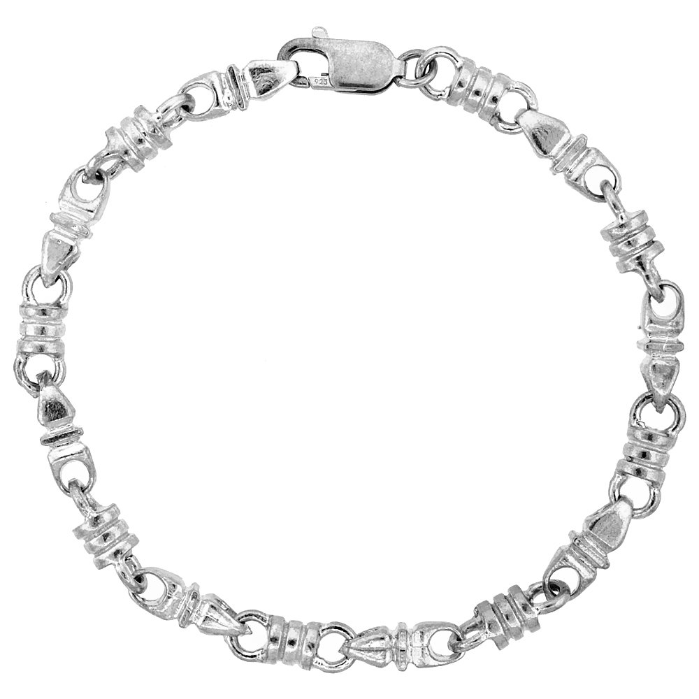 Sterling Silver Heavy Bullet Chain (Available in Different Lengths), 1/4 in. (6.5 mm) wide