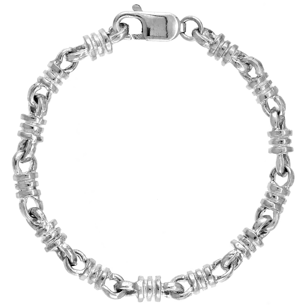 Sterling Silver Bullet Chain (Available in Different Lengths), 1/4 in. (6 mm) wide