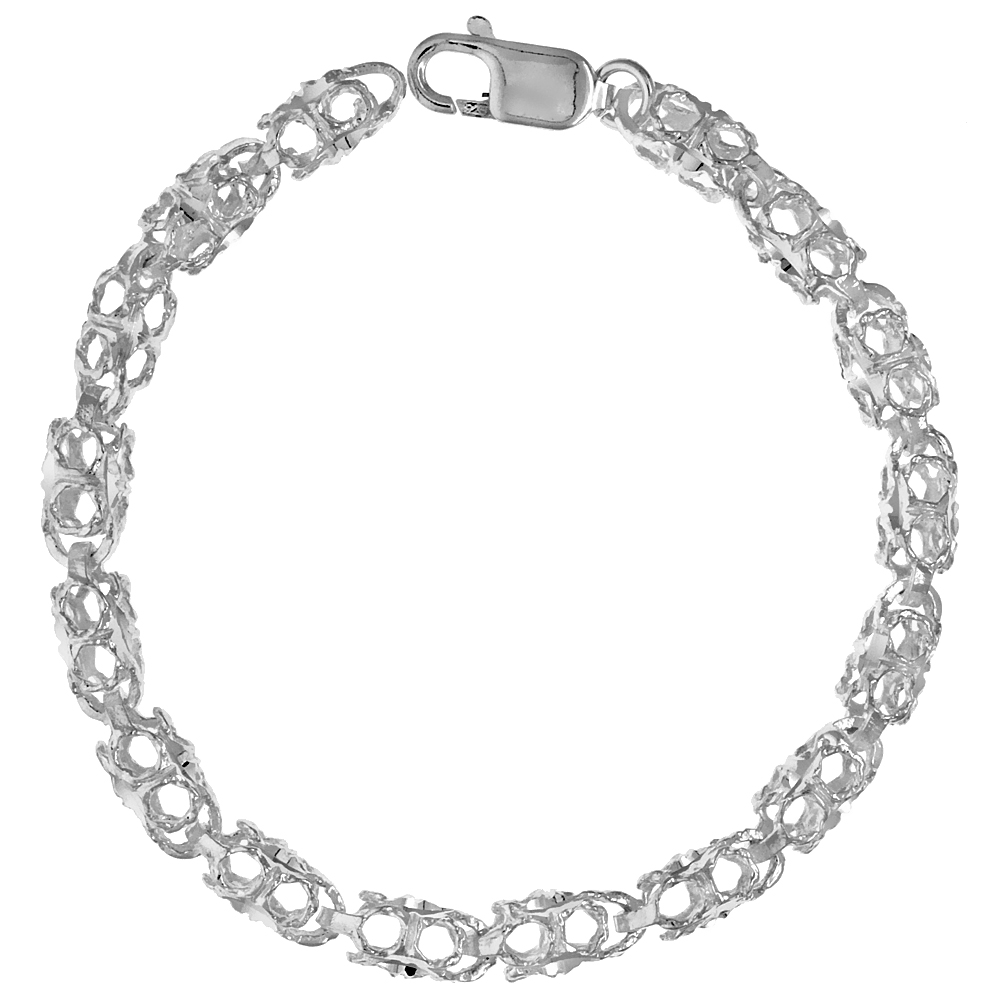 Sterling Silver Bullet Chain (Available in Different Lengths), 1/4 in. (6.5 mm) wide
