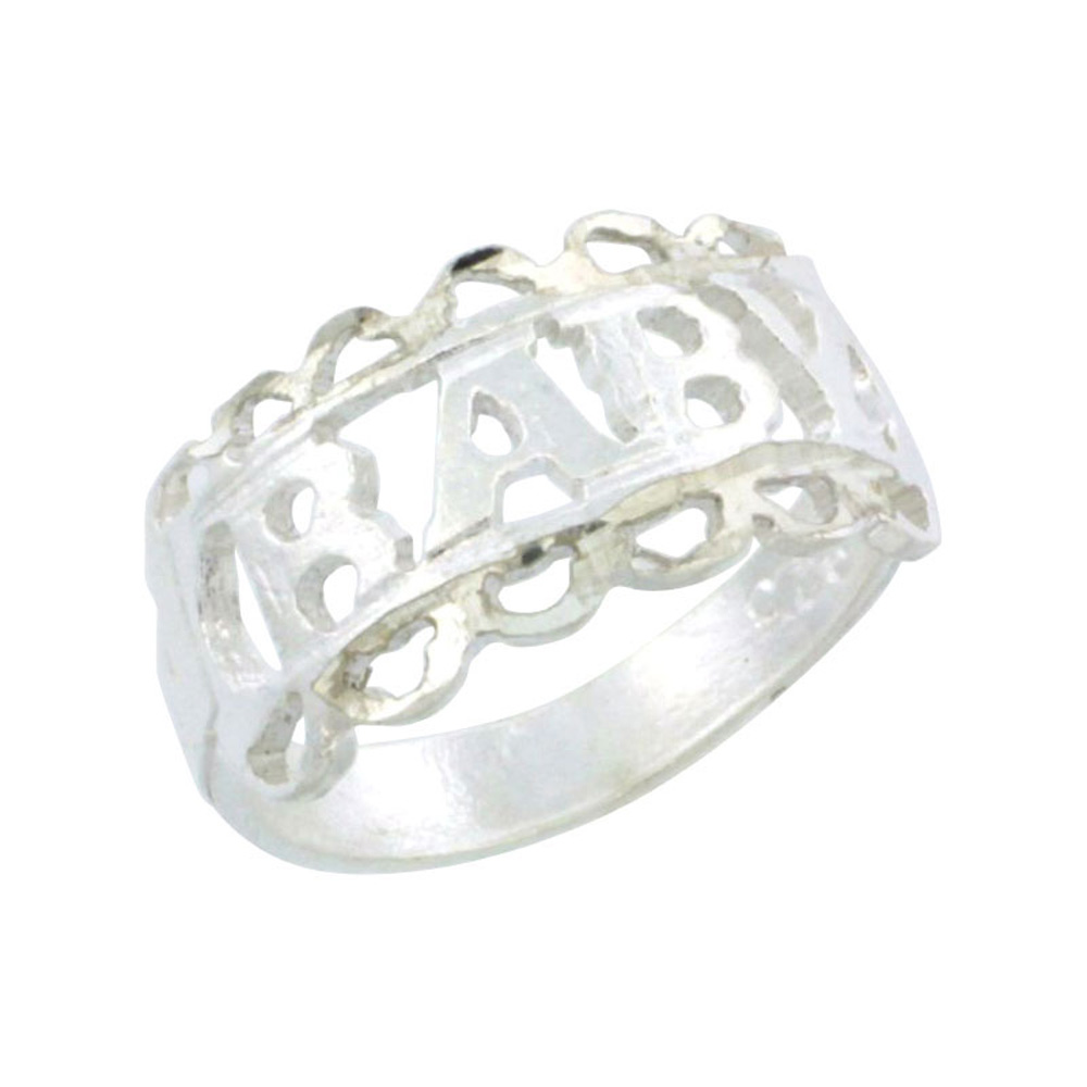 Sterling Silver Loop Baby Ring / Kid's Ring / Toe Ring (Available in Size 1 to 5)