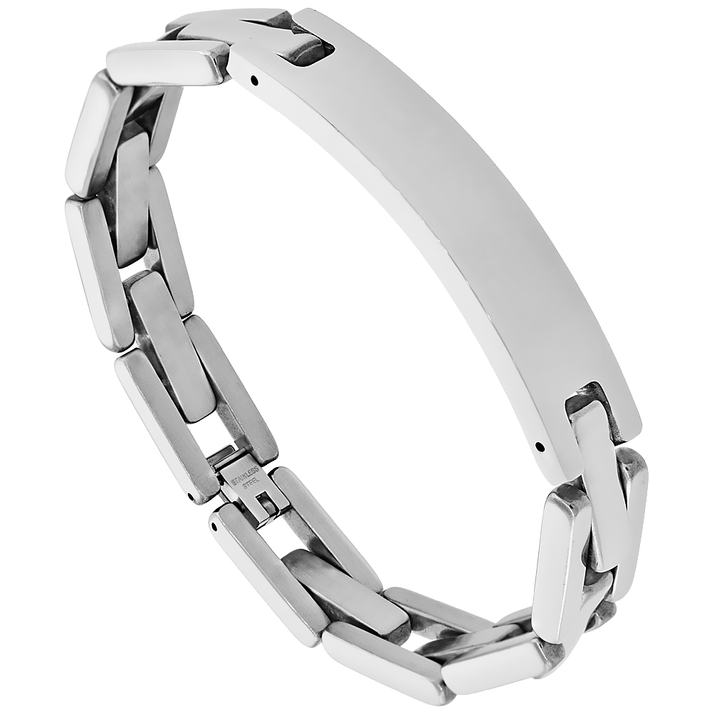 Stainless Steel Identification Pantera Bracelet 1/2 inch wide, 8.5 inches long