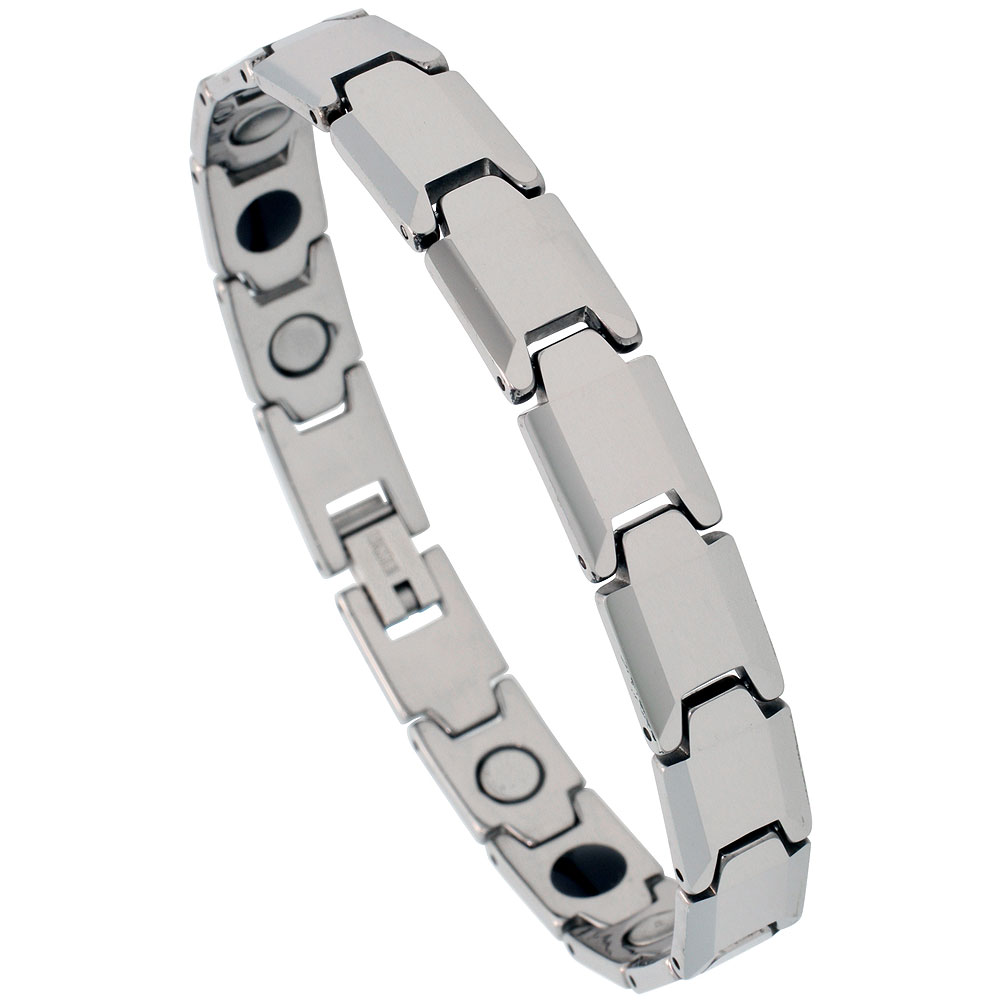 Tungsten Carbide Bracelet Magnetic Therapy, 3/8 inch wide,