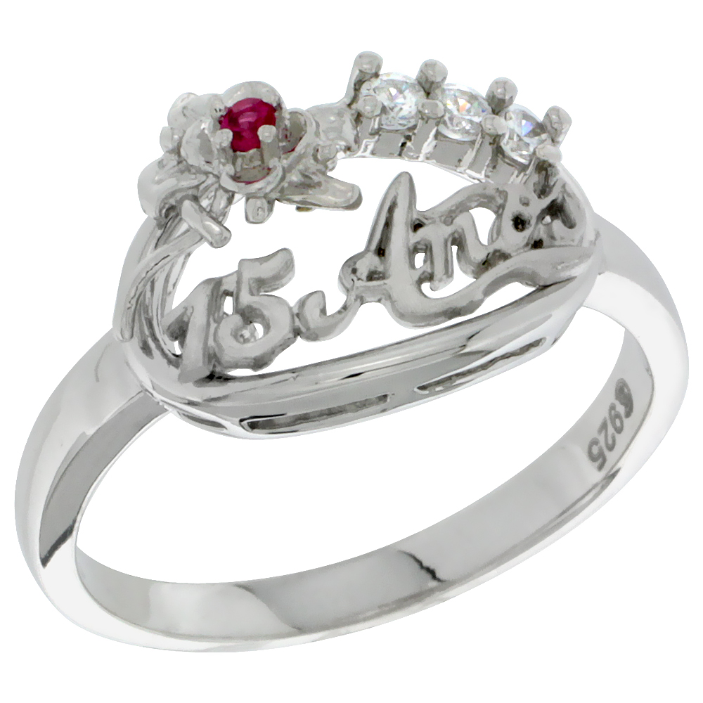 rings ring my clear en cz us pandora quinceanera princess jewelry stackable
