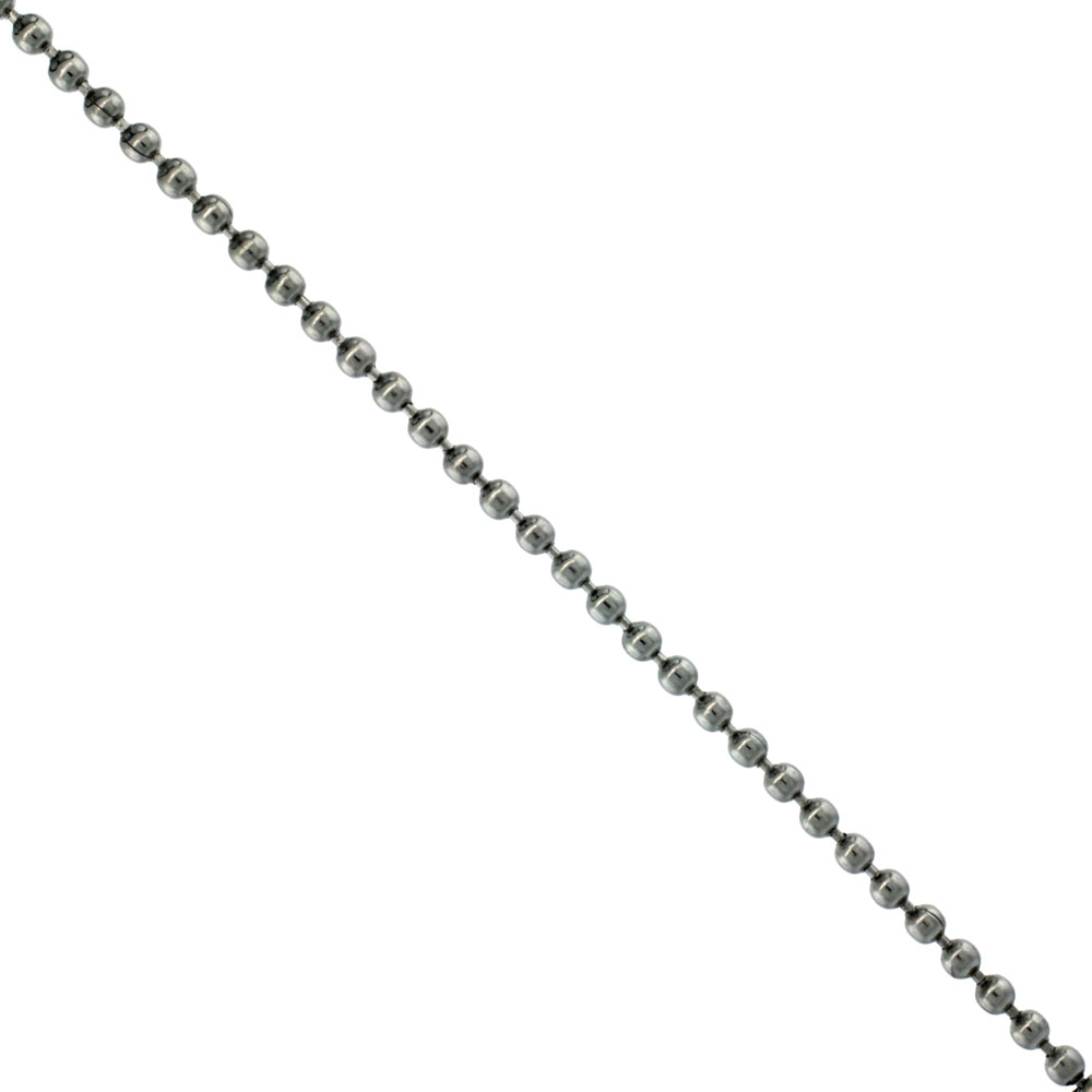 Surgical Steel Bead Ball Chain 2 mm By the Yard