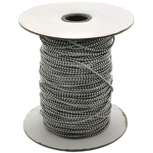 Surgical Steel Bead Ball Chain 2 mm 100 Yard Spool
