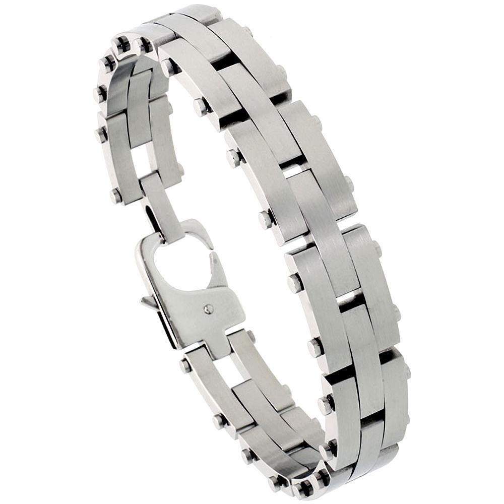 Stainless Steel Pantera Bracelet For Men 1/2 inch wide, 8 inch long,