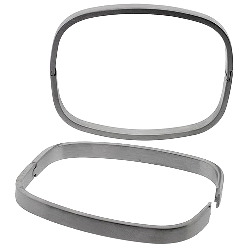 Stainless Steel Oval Bangle Bracelet For Men, 8 inch