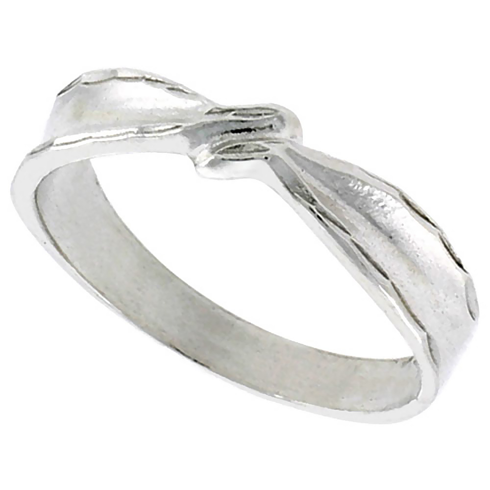Sterling Silver Freeform Ring Polished finish 3/16 inch wide, sizes 6 - 9