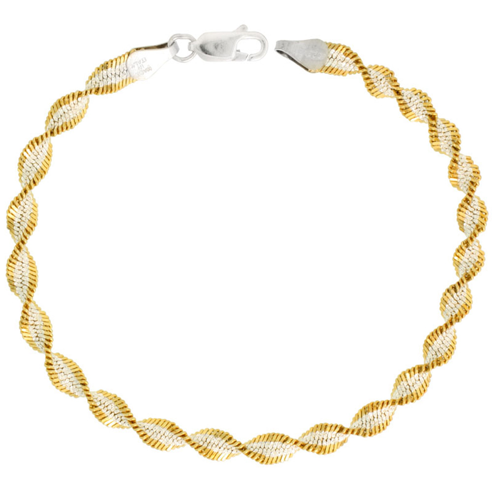 Sterling Silver Herringbone Chain Necklace & Bracelets 2mm - 14 mm Beveled Edges Nickel Free Italy, 16 inch
