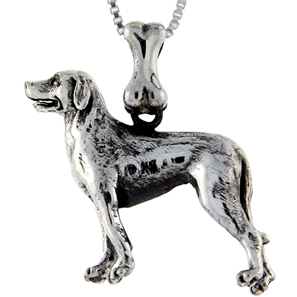 Sterling Silver Labrador Retriever Dog Pendant �