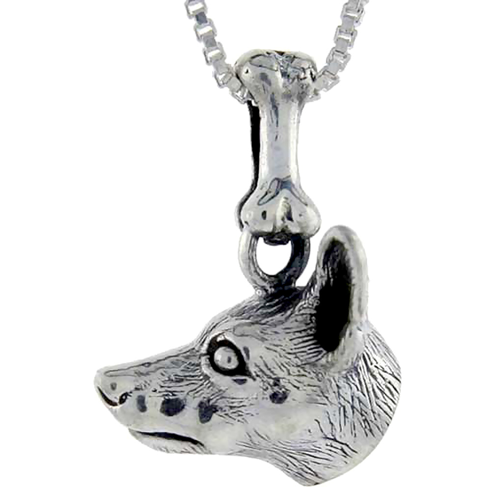 Sterling Silver Miniature Pinscher Dog Pendant �