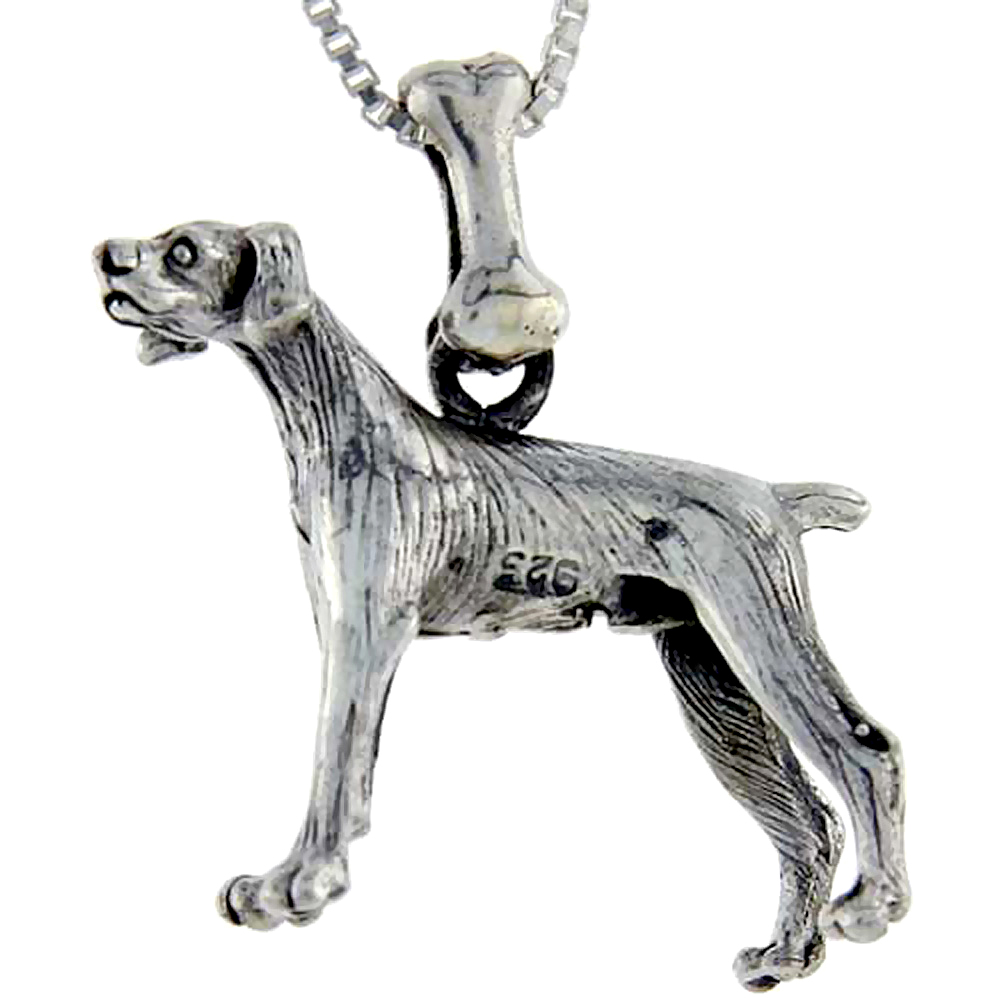 Sterling Silver Pointer Dog Pendant �