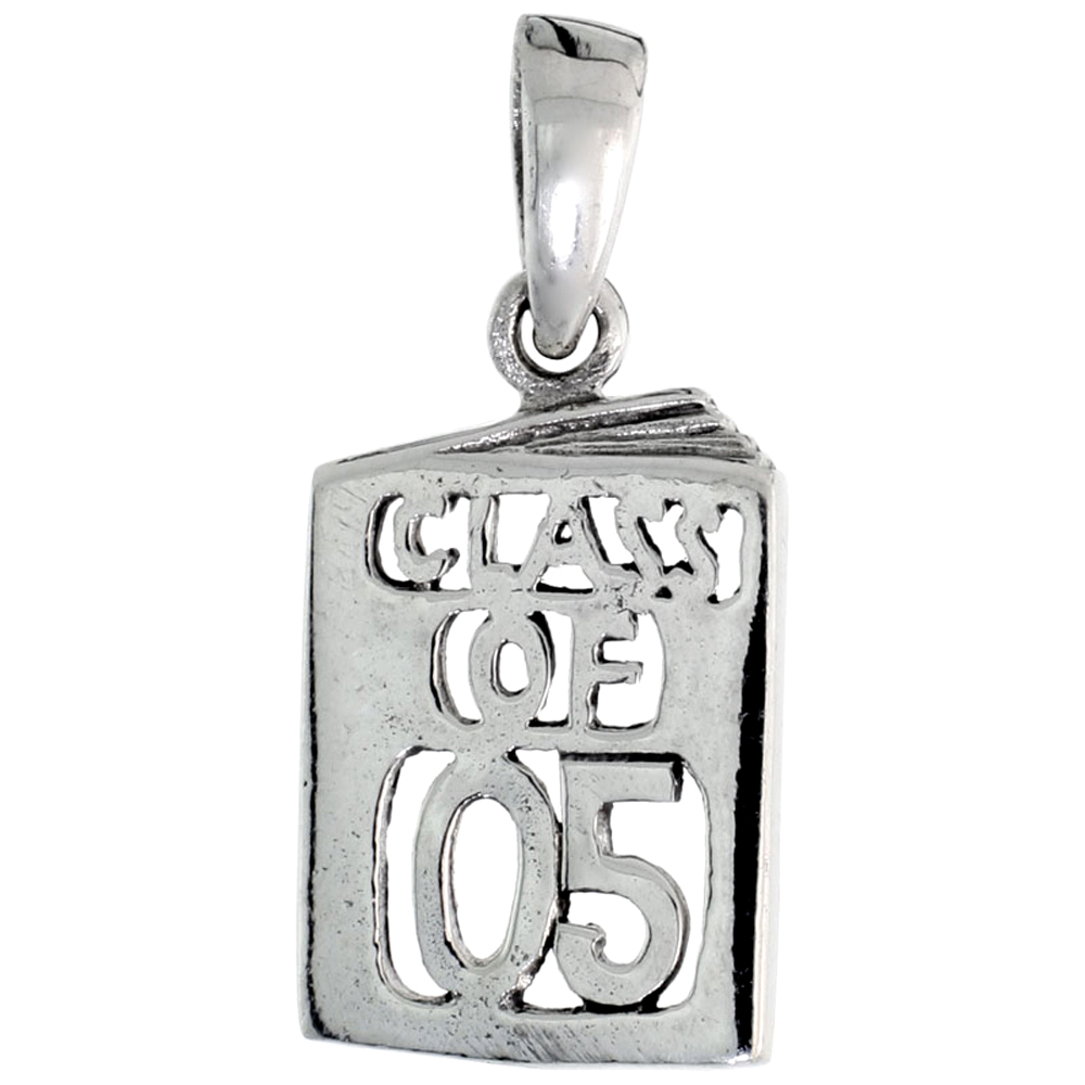 Sterling Silver Class of 2005 Pendant, 5/8 inch