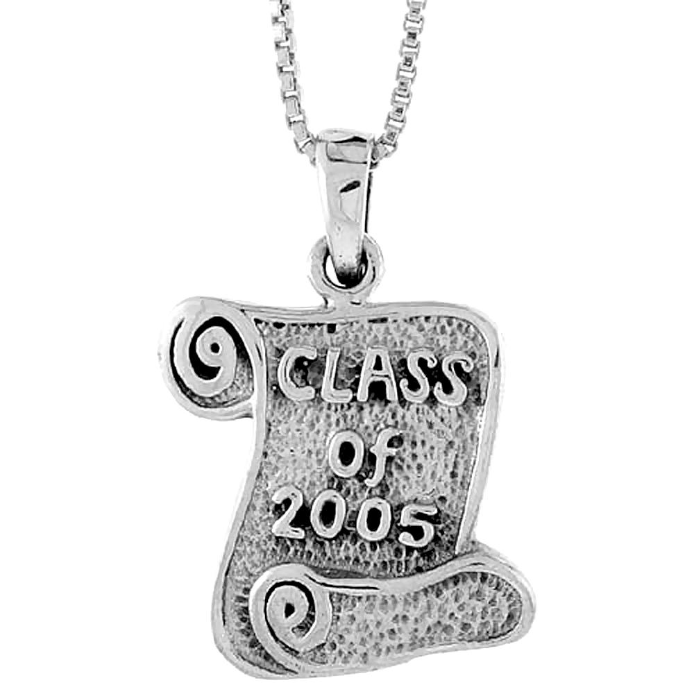 Sterling Silver Class of 2004 Pendant, 3/4 inch