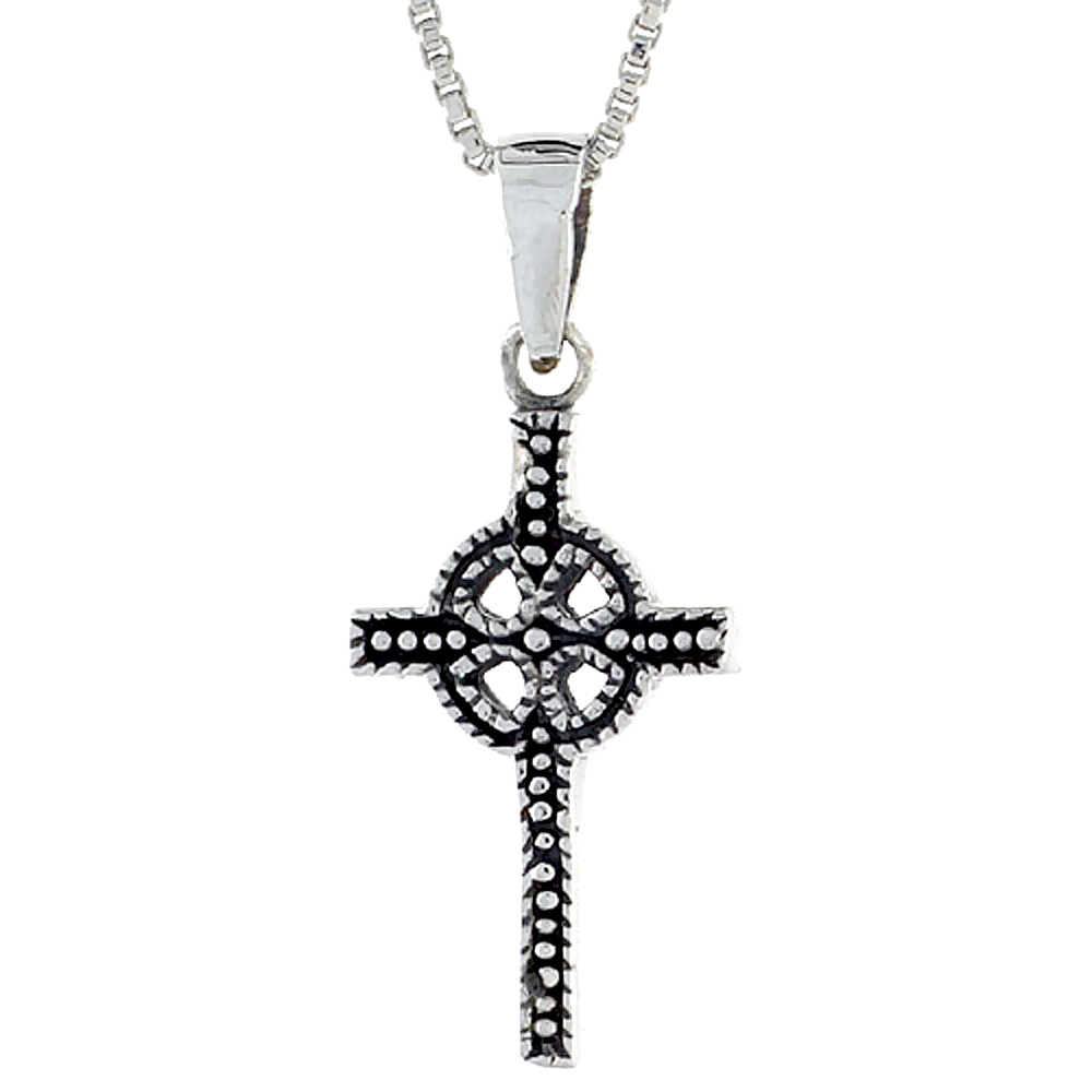 Sterling Silver Celtic Cross Pendant, 3/4 inch