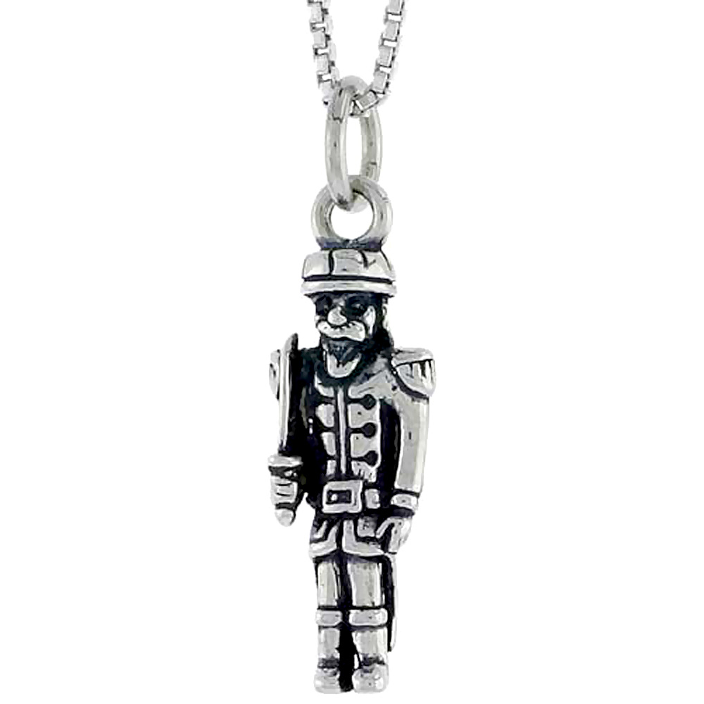 Sterling Silver Soldier Charm, 7/8 inch tall