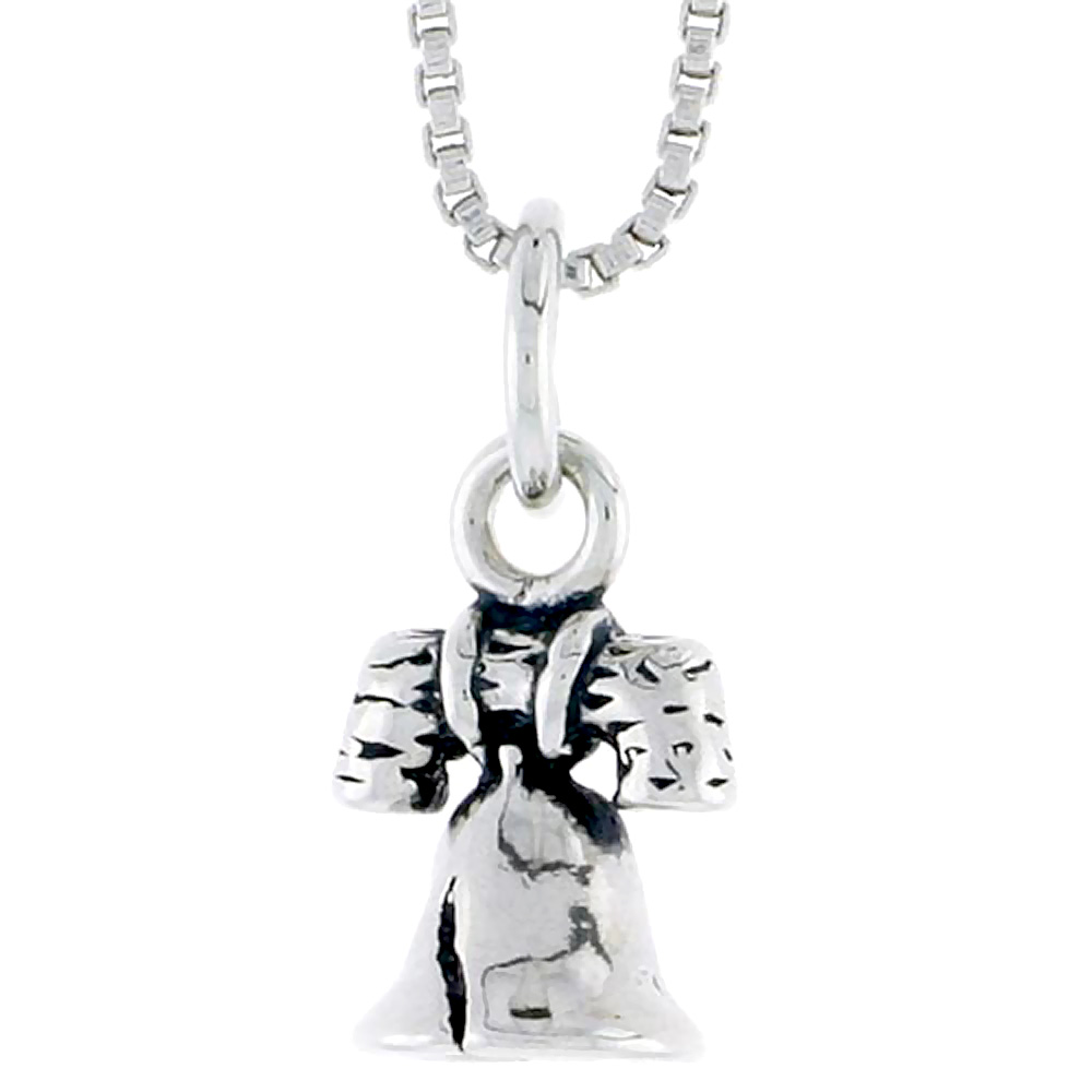 Sterling Silver Liberty Bell Charm, 3/8 inch tall