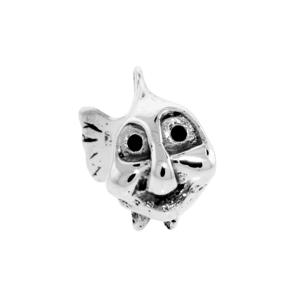 Sterling Silver Tang Fish Bead Charm for most Charm Bracelets