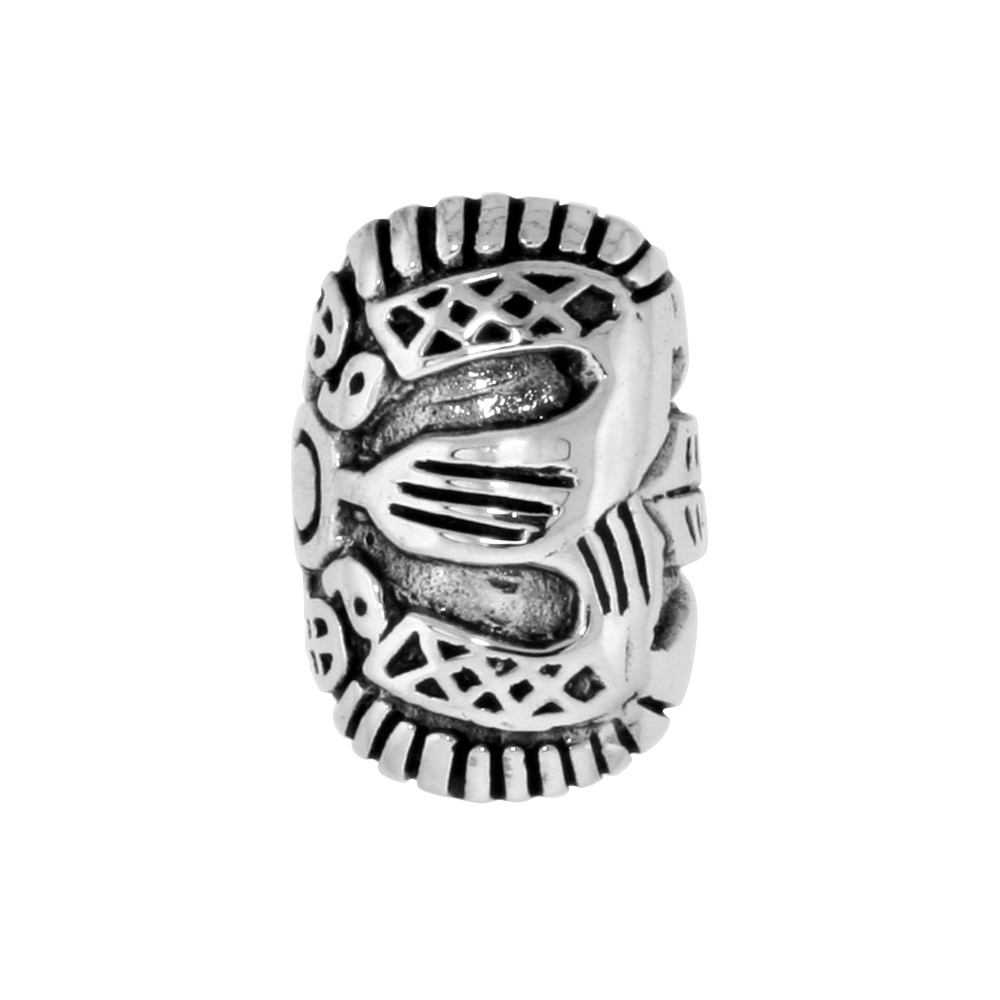 Sterling Silver Double Turtle Bead Charm for most Charm Bracelets