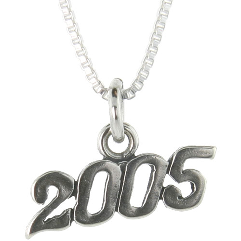 Sterling Silver 2005 Charm Pendant
