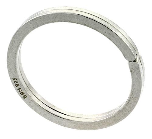 Sterling Silver Split Ring Key Ring, 1 1/4 inch