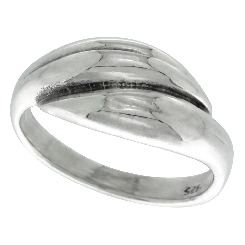 Sterling Silver Double Dome Ring 3/8 inch wide, sizes 5 - 12