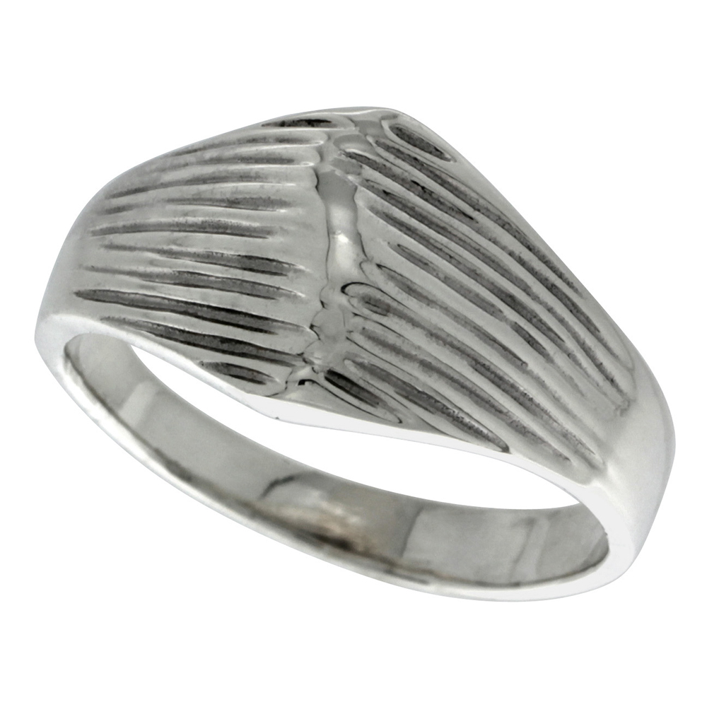 Sterling Silver Dome Ring 1/2 inch wide, sizes 6 - 10