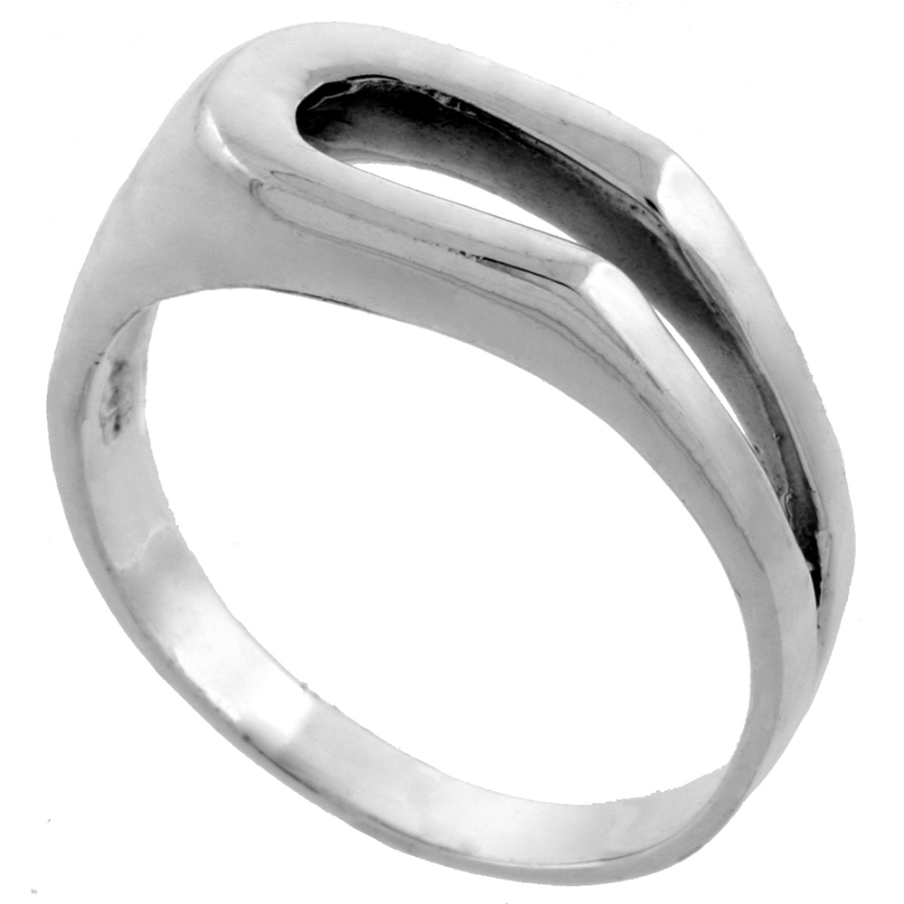 Sterling Silver Horseshoe Ring 3/8 inch wide, sizes 5 - 13