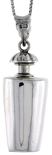 Sterling Silver Urn Pendant, Ash Container